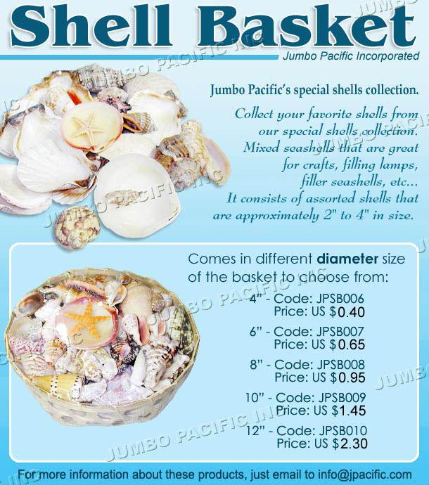 , Shell Baskets, Fashion Jewelry Wholesale, Fashion Jewelry Wholesale