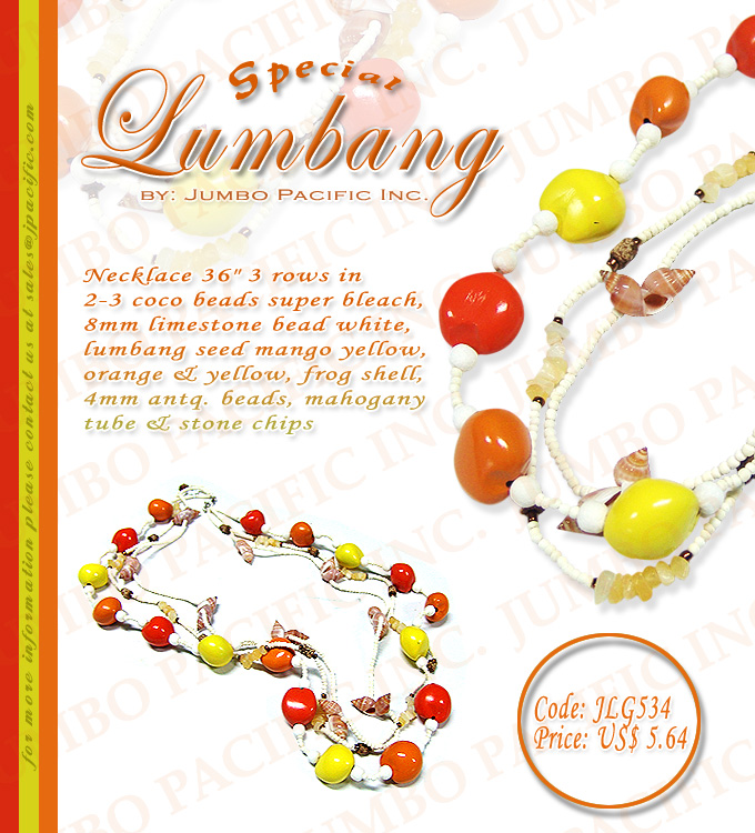 Lumbang Necklace Collection