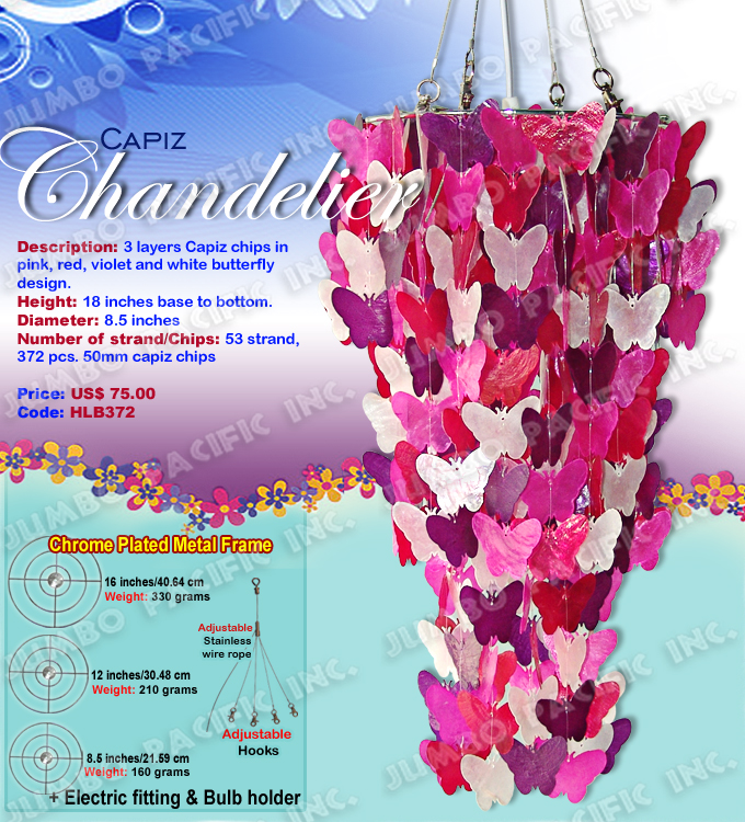 Butterfly Capiz Chandelier 